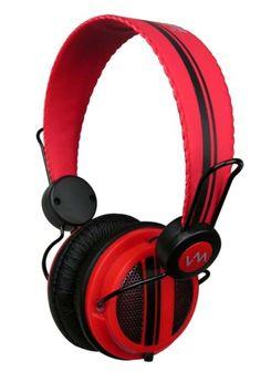 VM Audio 16) Dynamic On-Ear Headphones (Red) / SRHP5 16 x VM-SRHP5-RD,    #VM Audio Headphones