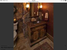 Guest Bathrooms, Vessel Sink, Vanity, Dressing Tables, Powder Room, Sink, Makeup Dresser, Mirror, Powder Room Vanity
