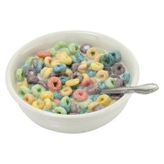 Multi colored oat cereal fill this bowl. Great prop for a kid's breakfast display. Food Png, Breakfast Plate, Breakfast Fruit, Breakfast Cereal, Drink Icon, Fake Food, Cereal Bowls, Oat Cereal, Soft Grunge