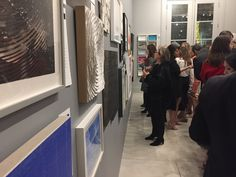 The Private Collections post-party silent art auction at Simon Breitbard Fine Arts in Jackson Square, San Francisco