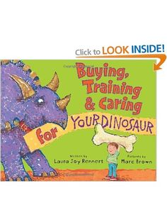 A hilarious guide to having a dinosaur . . . as a pet!  Dogs are delightful. Cats are cute. And fish are fun. But the best pet of all is . . . a DINOSAUR!  But how do you pick the dino that's right for you? Spiky? Armored? Humongous? Pea-brained? Plant-eater? How do you take care of him once he's (gulp!) home? How do you feed him, exercise him, take him to the vet, and give him a bath?! Not to mention train him, since he might like to chew on—er, swallow—Mom's new shoes.