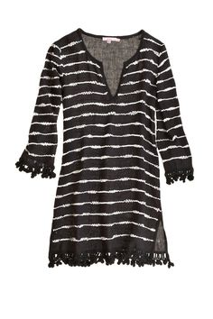 sequin fringe tunic