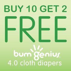 bumGenius Buy 10 Get 2 Free  12 for $169.50