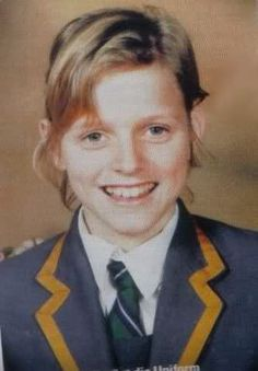Charlene Wittstock the young schoolgirl- who went to school in Benoni, outisde Johannesburg-South Africa