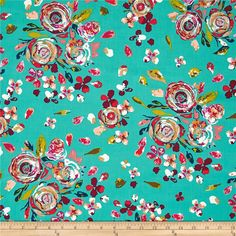 Art Gallery Boho Fusion Swifting Flora Boho from @fabricdotcom Designed by Maureen Cracknell for Art Gallery Fabrics, this cotton print collection features saturated hues and beautiful bohemian designs on their standard, luxurious 200 thread count quilting cotton. Inject some modernity into your quilt, apparel, and home decor accents. Colors include turquoise, purple, red, olive, peach, white, and tan.