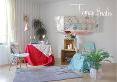 El estilismo de una campiña inglesa hace 50 años y su making of - Deco & Living Valance Curtains, Home Decor, Campinas, Outfits, Creativity, Blue Prints, Colors, Style, Decoration Home