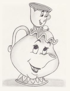 My Disney drawing – Mrs. Potts & Chip (Beauty and the Beast) – Sketch – Comic zeichnungen – My Disney drawing – Mrs. Potts & Chip (Beauty and the Beast) – Sketch – Comic zeichnungen – Disney Pencil Drawings, Disney Drawings Sketches, Easy Disney Drawings, Cute Drawings, Drawing Sketches, Sketch Art, Drawing Disney, Belle Drawing, Drawing Ideas