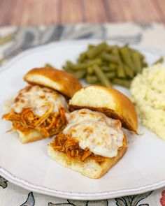 Slow Cooker Chicken Parmesan Sliders - all the flavors of chicken parmesan w/o the work!