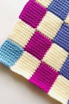 Baby Blanket Crochet, Crochet Baby, Free Crochet, Knit Crochet, Chevron Crochet, Crochet Squares, Baby Knitting Patterns, Crochet Patterns, Tunisian Crochet
