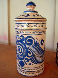 Mexican Majolica, Lidded Jar