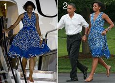 Michelle Obama wearing a Tracy Reese Dress in April and June 2010
