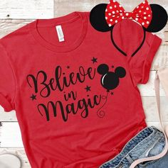 Excited to share the latest addition to my shop: Believe in Magic Disney Shirt Disney Shirt Magic Kingdom Shirt Disney Matching Shirts Disney Family Shirts Disney T Shirt - Family Shirts - Ideas of Family Shirts Disney World Outfits, Disney World Shirts, Disney Merch, Disney Princess Shirts, Cute Disney Outfits, Disney Vacation Shirts, Matching Disney Shirts, Disney Shirts For Family, Disney Clothes