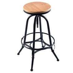 HTH Store Vintage Bar Stool Industrial Metal Design Wood Top Adjustable Height Swivel Chair for Bar Or Pub Round Chair Bar Set Swivel Dining Chairs, Pub Chairs, Bar Stool Chairs, Counter Bar Stools, Swivel Bar Stools, Room Chairs, Upholstered Chairs, Swivel Chair, Vintage Bar Stools