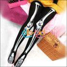 Halloween Skeleton Bone Printed Pants Tights Pantyhose Leggings Lady Stockings