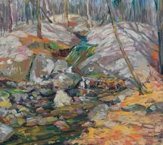 """""""Woodland Stream,"""" Charles S. Kaelin, oil on canvas, 18 1/4 x 20 1/4"""", private collection."""