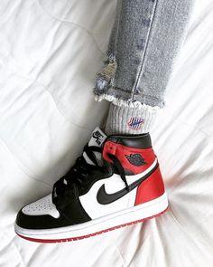 Sneakers streetwear femme on jordan 1 sa sneakers streetwear femme on jordan 1 satin black toe by praduuhh girlsonmyfeet com girlsonmyfeet sneakers women jordan 1 satin black toe igpraduuhh 2019 nike air force 1 high quot;have a nike day quot; Zapatillas Nike Jordan, Tenis Nike Air, Nike Air Shoes, Nike Air Jordans, Air Jordan Sneakers, Air Jordans Women, Retro Nike Shoes, Adidas Shoes, Nike Socks