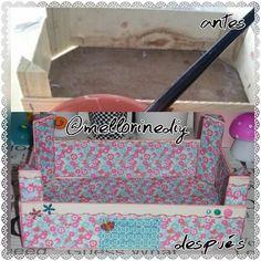 La caja antes y después. A mí me encanta el resultado porque el papel que elegí me encanta y creo que el troquelado de bordes le queda genial. ¿Qué me decís?  #caja #box #madera #wooden #antes #before #después #after #reciclar #recycling #papelería #stationery #manualidades #crafts #materiales #stuff #hechoamano #handmade #hechoencasa #homemade #hazlotumismo #doityourself #DIY #bonito #cute #cutestationery #kawaii #TagForLikes #PicForLikes #PicOfTheDay