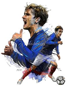 'griezmann france' Poster by bassdesign - Football wallpaper - Art Football, Football 2018, Fantasy Football, Antoine Griezmann, France World Cup 2018, France Team, France Fifa, France Wallpaper, Soccer Drawing