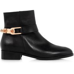 Eugenia Kim - Lou Leather Ankle Boots ($575) ❤ liked on Polyvore featuring shoes, boots, ankle booties, black bootie boots, black ankle boots, black boots, leather ankle booties and black leather booties