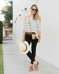 Bring on the stripes, cold-shoulders & modern mules! These are a few of our favorite spring things too, @jseverydayfashion. #YouStyled