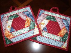 Amy Smith Creations Crazy Quilt Potholders