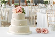 Three Tier Pearl Wedding Cake By Marks & Spencer   Love My Dress® UK Wedding Blog