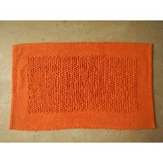 Handwoven Chenille Popcorn Rug - Orange (50cm x 80cm) - Mode Alive - Home Decor Heaven