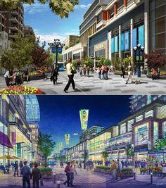 Transit-oriented development...Markham Centre. Markham, Ontario.