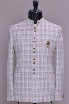 Buy Off white Woven Jute Jodhpuri Suit Online Samyakk Bangalore Latest African Wear For Men, Latest African Men Fashion, African Shirts For Men, African Dresses Men, African Attire For Men, Indian Men Fashion, Mens Fashion Suits, Blazer Outfits Men, Stylish Mens Outfits