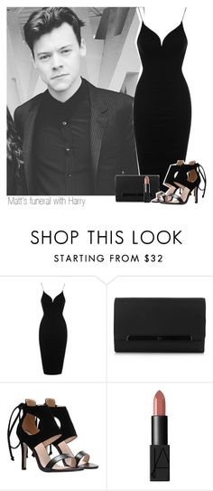 """""""Matt's funeral with Harry"""" by sahiarat ❤ liked on Polyvore featuring Topshop, Christian Louboutin and NARS Cosmetics"""