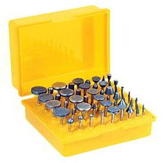 50pc Diamond Burr Set - great accessories for Dremel or other handheld rotary tools! Will work on glass, metal, stone, wood, ceramics, plastic & more!