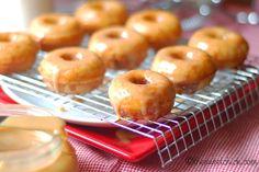 Mini Churro Donuts with Homemade Dulce de Leche #NationalDonutDay