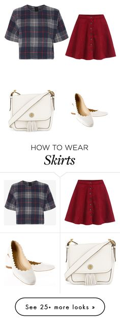 """""""Skirts"""" by gabrielle-dixon on Polyvore featuring Tory Burch, rag & bone and Chloé"""