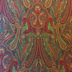 cla176 Clarence House Etro Paisley Red CLA176