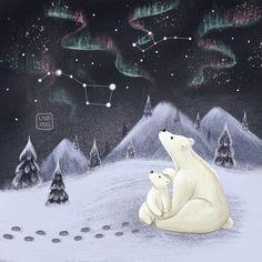 Polar Bear Illustration, Cute Illustration, Bear Nursery, Nursery Art, Animals Beautiful, Cute Animals, Bear Sketch, Bear Cartoon, Cute Animal Drawings