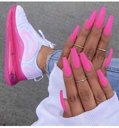 In seek out some nail designs and some ideas for your nails? Listed here is our listing of must-try coffin acrylic nails for modern women. Shoe Nails, Aycrlic Nails, Coffin Nails, Matte Nails, Oxblood Nails, Pink Acrylic Nails, Neon Blue Nails, Gradient Nails, Holographic Nails