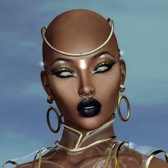 Afrofuturism from a hood perspective. Art Black Love, Black Girl Art, Art Girl, Arte Black, Arte Fashion, Black Art Pictures, Black Artwork, Afro Art, Magic Art
