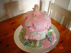 Pink Fairy Toadstool Cake