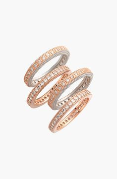 These rose gold and silver rings are perfect for stacking or mix & matching.