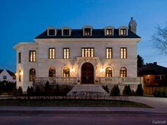 limestone, no trim color, black window frames, black roof