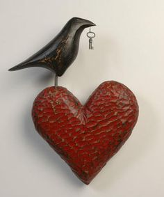 Mark Orr's raven-heart sculpture is a reminder of what's really important