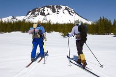 Cross country skiing in Oregon.