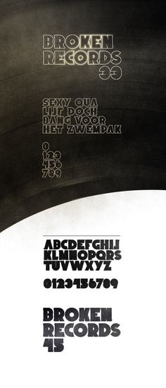 Broken Records (Font) by Timo Kuilder, via Behance