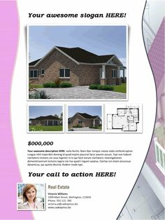 real estate flyer template word