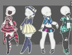 LovelyLoren LovelyLoren ValyrianAdopts ValyrianAdopts Gachapon outfits are still open~ Base created by MeowImaCow Cute Drawings, Drawing Sketches, Clothing Sketches, Fashion Design Drawings, Drawing Base, Drawing Clothes, Anime Outfits, Character Outfits, Character Design Inspiration