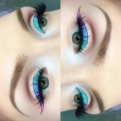 ombre pastel winged liner + graphic black outline | makeup @ beautsoup