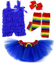 Product description: Inspired by cartoon favorite Rainbow Brite, this Rainbow Girl tutu costume set is a fun idea for a Halloween costume, theme party, photo shoots, birthday parties and dre Horse Costumes, Tutu Costumes, Cute Halloween Costumes, Halloween Ideas, Couple Costumes, Costume Ideas, Baby First Birthday, Unicorn Birthday Parties, 35th Birthday