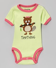 Loving this Olive 'Teething' Beaver Bodysuit - Infant on #zulily! #zulilyfinds