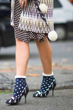 a pop of polka dot socks #streetstyle