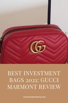 Best investment Bags 2021: Gucci Marmont review, opinions and outfits. A complete review of one of the best investment bags for 2020. #gucci #guccibags #guccihandbas #luxurybags #investmentbags #designerbags #gucci2021